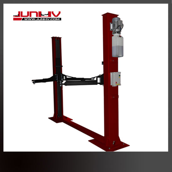 2 Post Floor Plate Manual Lock Release Car Lift with Ce Approved