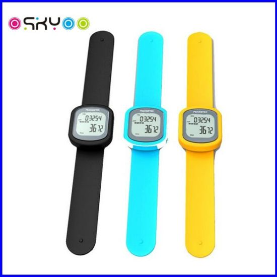 Slap Wristband Touch Screen 3D Pedometer Watch