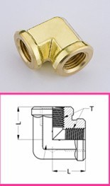 Brass Fitting Elbow Nickel Coating Connector pictures & photos