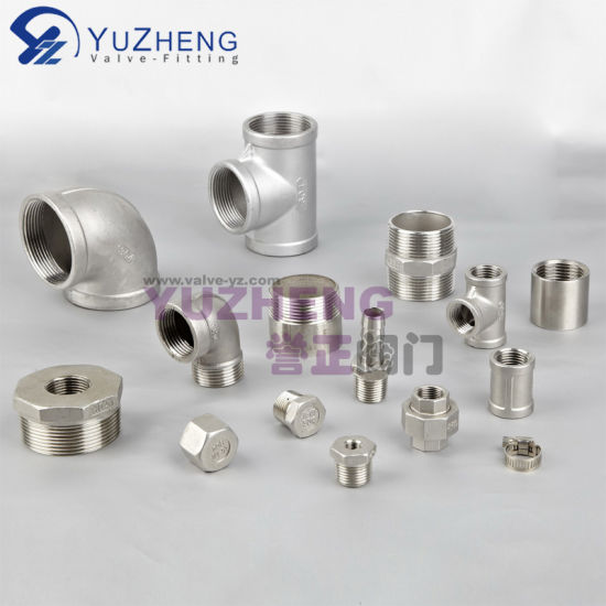 316 /304 Stainless Steel Tee NPT Thread Fittings Dn50 Pipe Fittings Socket Plumbing Fittings