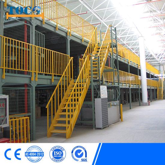 Raised Storage Area Mezznaine Racking for Logistic Area