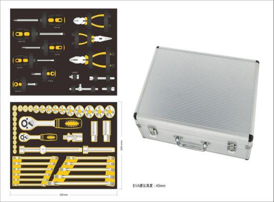 Silver Aluminium Tool Case with Tool Pallet (KeLi-D-25)