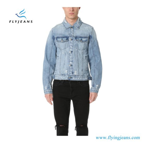 80d4235ffe China Distressed Denim Jacket for Men and Boys - China Man Jeans ...