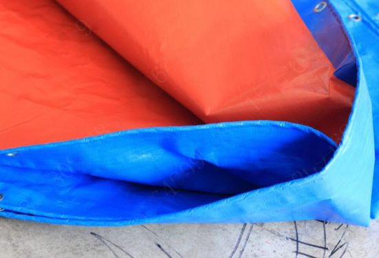 Blue/Orange Plastic Tarpaulin Cover pictures & photos