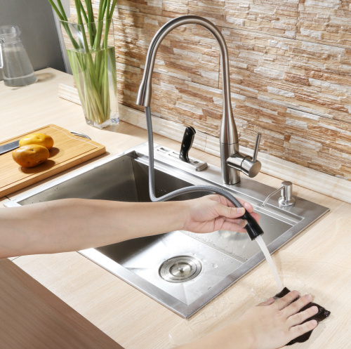 Deck Mounted Single Lever Kitchen Sink Faucet pictures & photos