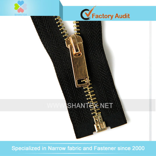 No. 5 Gold Brass Zipper Open End Autolock