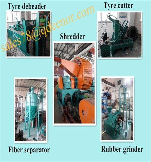 Waste Tire Roller Crusher Machine/Fine Rubber Powder Processing Line/Rubber Mat Making Equipment pictures & photos