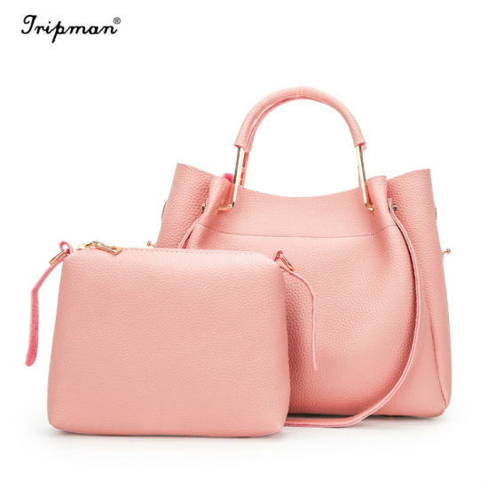 China 2PCS Designer High Quality Women Bags with Logo Cosmetic Tote ... cc908a91c