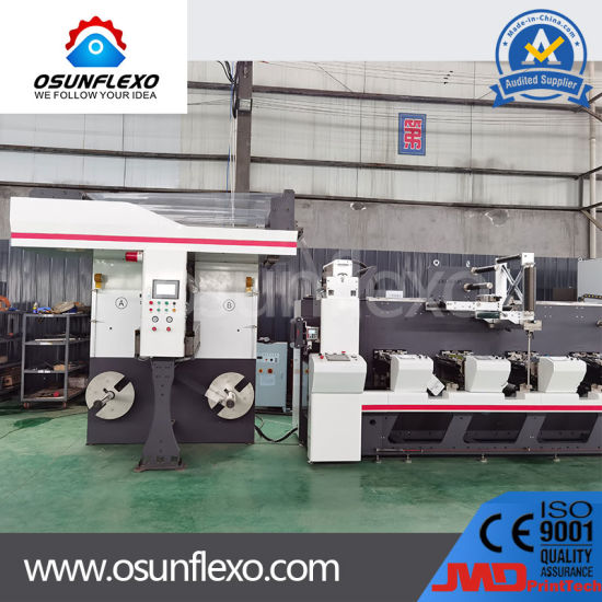 High Speed Multifunctional Combination Label and Plastic Film Flexo Printing Machine