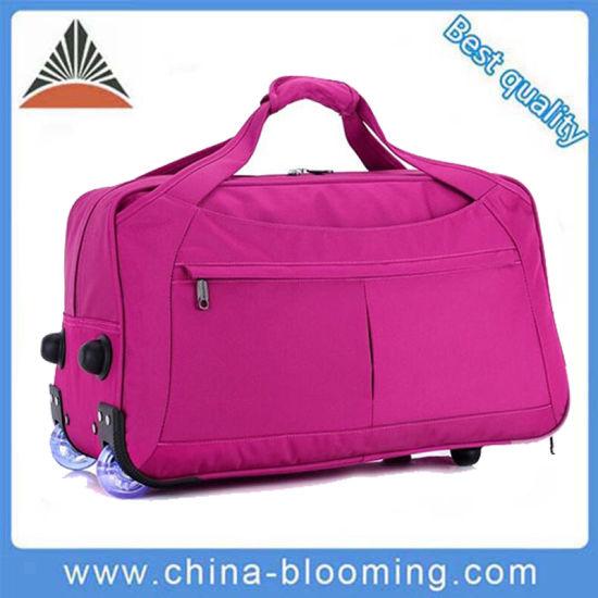 3e353833360cf Waterproof Weekend Rolling Trolley Luggage Travel Duffle Suitcase Bag