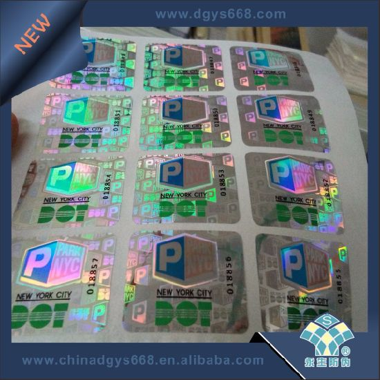 Customized 3D Hologram Sticker with Full Color Print pictures & photos