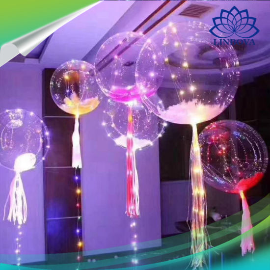 LED Balloon 3m LED Air Balloon String Lights Wedding Party Decoration Helium LED Colorful Bobble Balloons pictures & photos