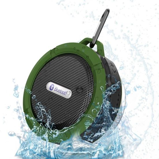 C6 Cheapest Waterproof Outdoor Metal Portable Hook Sucker Wireless Speaker