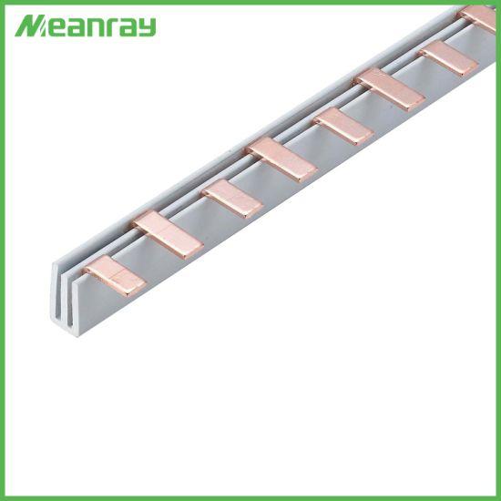 2p Electrical Copper Busbar C45 MCB Busbar Insulator Breaker Connector