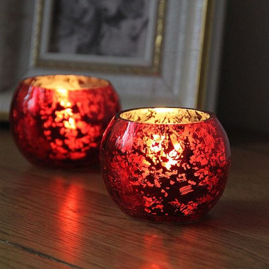 Spherical Glass Candlestick with European Style and Electroplating Process pictures & photos