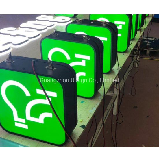 Custom Made LED Advertising Wall Mounted Outdoor Light Box Signs