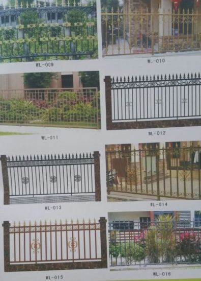 Garden Fence Iron Fence Steel Palisade Fencing Wrought Iron Design pictures & photos