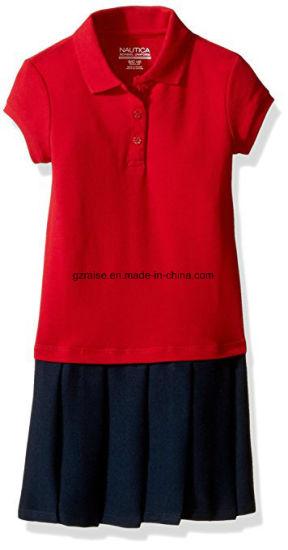 2018 OEM 100% Cotton Little Girl Polo Shirt for School Children
