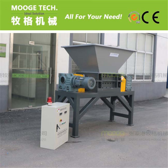 Waste tire/metal/carboard/bucket double shaft shredder pictures & photos