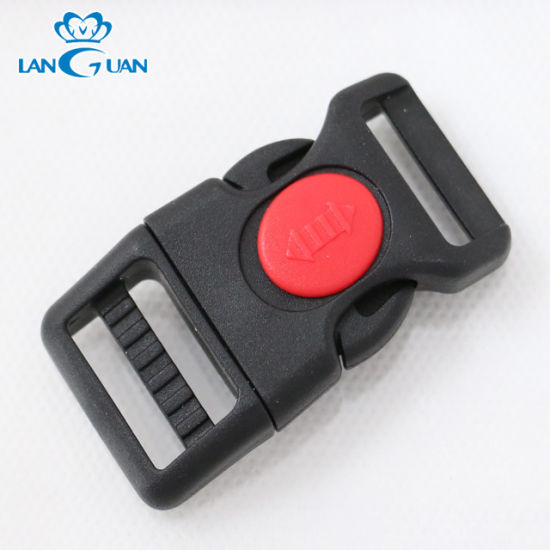 20 mm Black Plastic Side Quick Release Buckle Clip Double Regulating Buckle