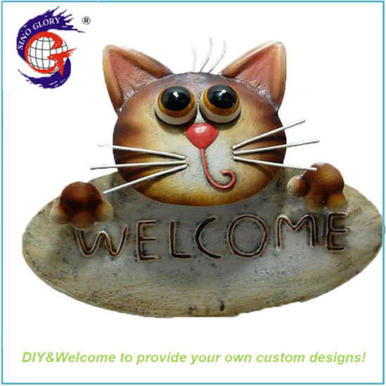 Metal Cat Decorative Hanging Craft Welcome Word Signs pictures & photos