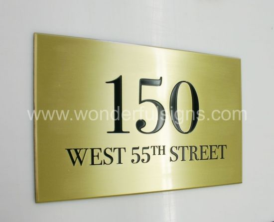 Wholesale Custom Office Door Numbers Sign Hotel Room Number Plate pictures & photos