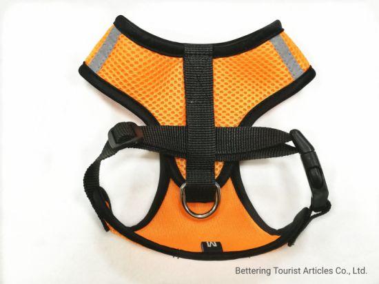 Orange Reflective Sandwich Dog Harness
