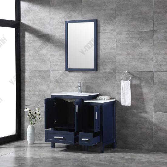 Solid Wood Single Sink Bathroom