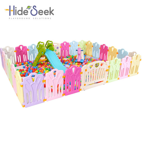 Indoor Plastic Kids Play Game Fence Without Slide (HBS17075A)