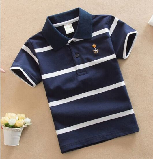 High Quality 100% Cotton Kids Polo/T-Shirts for Age 0-13