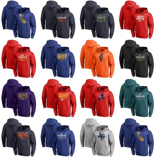 2018 N-F-L Playoffs Bound Coins Toss State Hometown Pullovers Hoodies