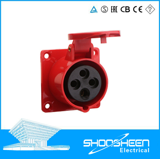IP67 3p Approval Waterproof Cable Connector 16A 32A Lx-3132/3232 Hide Direct IP67 Industrial Plug Extension Socket