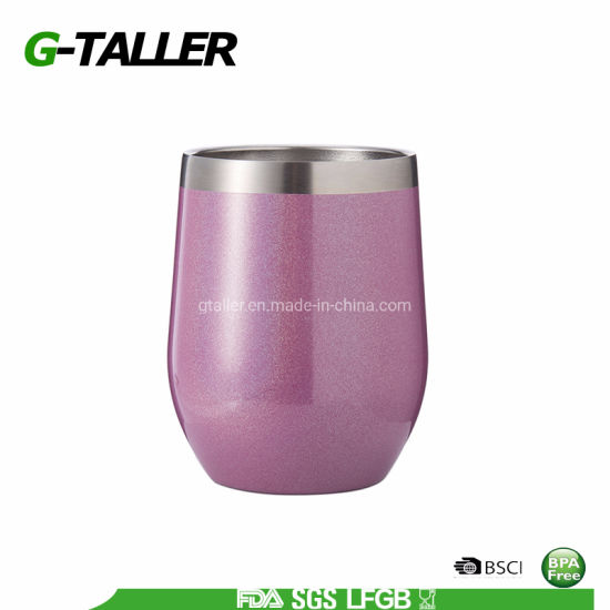 Custom Packing Vacuum Stainless Steel Insulated Wine Glass Tumbler