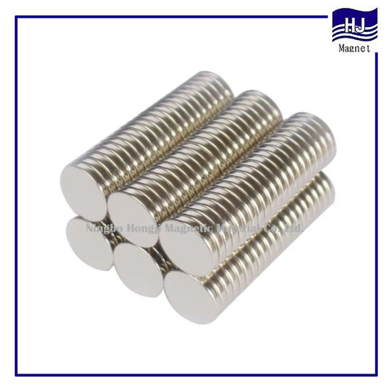 Thin Cylinder Neodymium Strong Magnet for Motor Industrial
