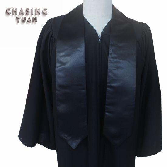 Wholesale University Black Graduation Plain Stole