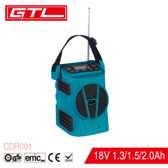 LED Display Lithium-Ion Cordless Jobsite Radio with FM/Aux/SD/USB/Bluetooth pictures & photos