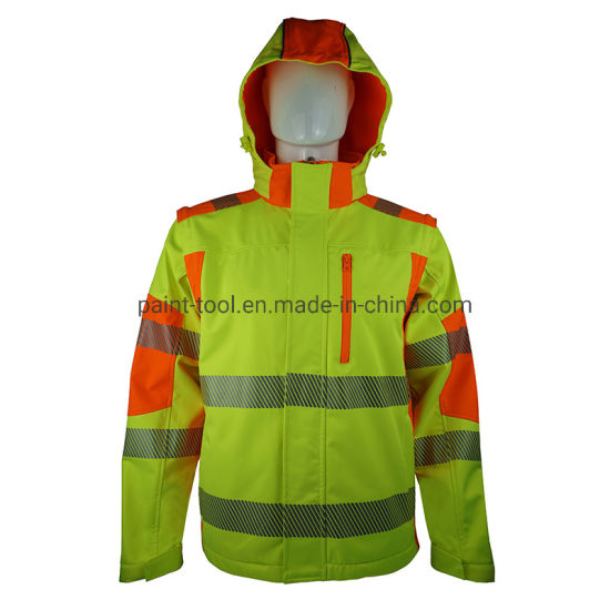 Waterproof Windproof Safety Workwear Reflective Jacket for Workers and Construction