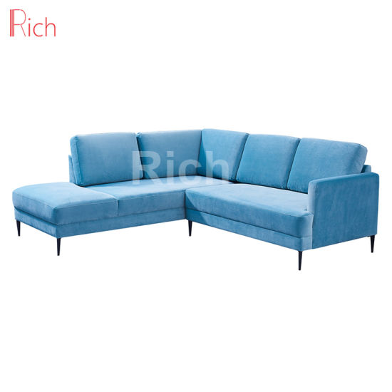 Magnificent China Blue Fabric Modern Sectional Corner Sleeper Sofa For Spiritservingveterans Wood Chair Design Ideas Spiritservingveteransorg