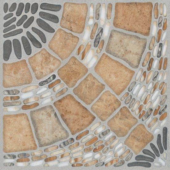China 300300 Cheap Stone Shape Glazed Toilet Ceramic Floor Tile