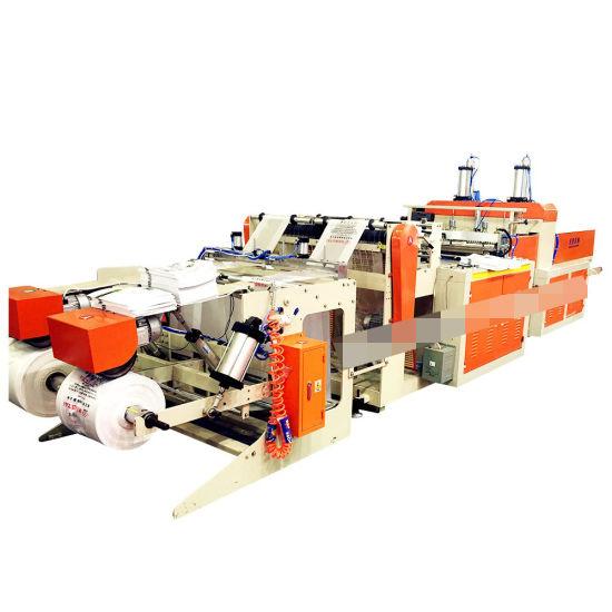 Automatic Nylon Biodegradable Hot Sealing Hot Cutting Plastic Handle Bag Machine