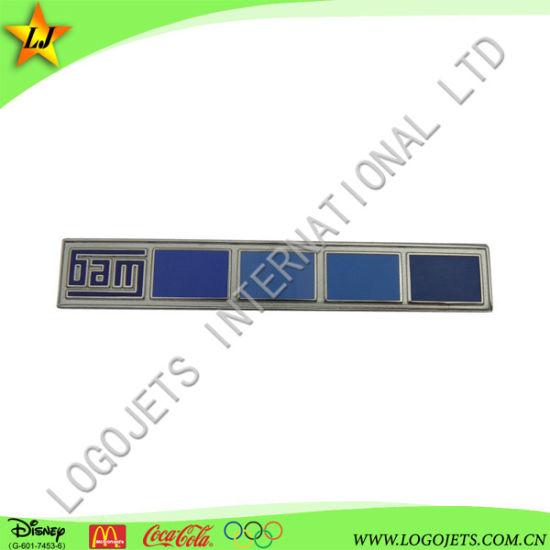 China Imitation Hard Enamel Lapel Pin Customzied Ribbon
