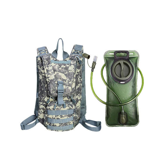Tactical Backpack with 2.5L TPU Water Bladder Hydration Waterproof Military Daypack Lightweight Pack for Cycling Hiking Running Climbing Hunting Biking Backpack