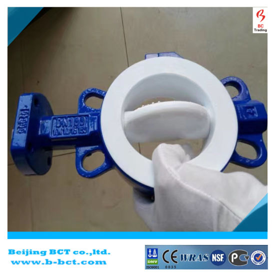 Wafer PTFE Soft Seal Motor EPDM Gear Butterfly Valve Bct-F4bfv-1 pictures & photos