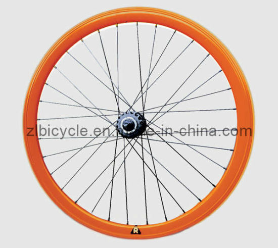 700c High Quality Colorful Fix Gear Bike Wheelsbicycle Parts/Wheel Set pictures & photos