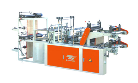 High Speed Double Layer Rolling Bag Making Machine for Vest and Flat Bags