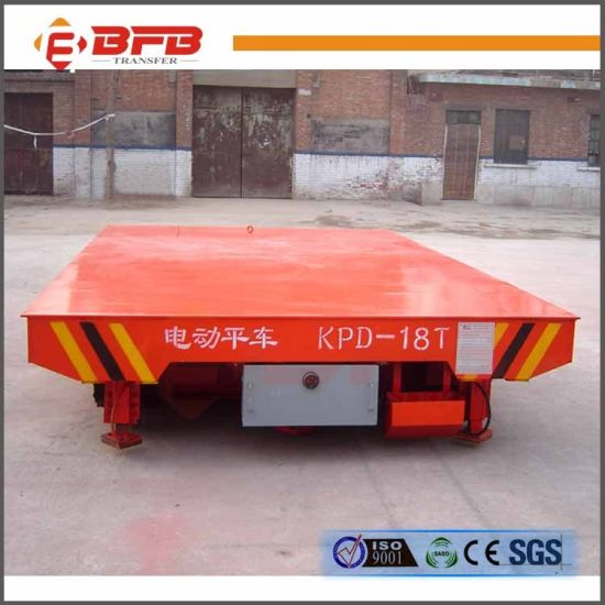Heavy Duty Motorized Transfer Cart for Aluminum Coil on Rail (KPD-30T) pictures & photos