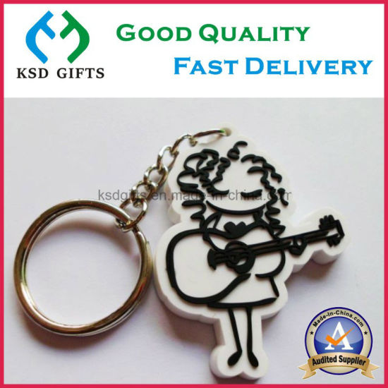Daily Fashion Promotion Items Soft PVC Key Chain