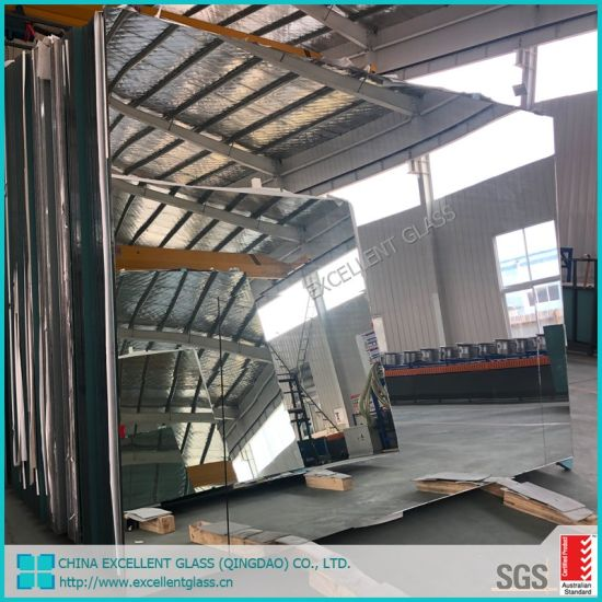 China Large Frameless Beveled Wall Mirror Glass Fitness Gym Dance Studio Yoga Mirror China Mirror Color Mirror