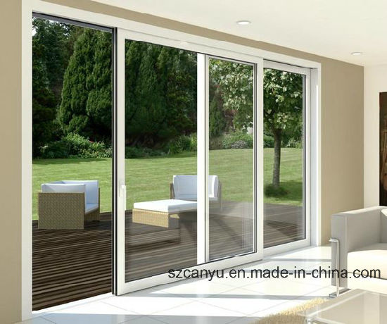 China Classic Size Customized Glass Double Sliding Doors Wood Door Design pictures & photos