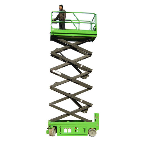 14m Lifting Height Full Electric Mobile Platform Scissor Lift for Aerial Working